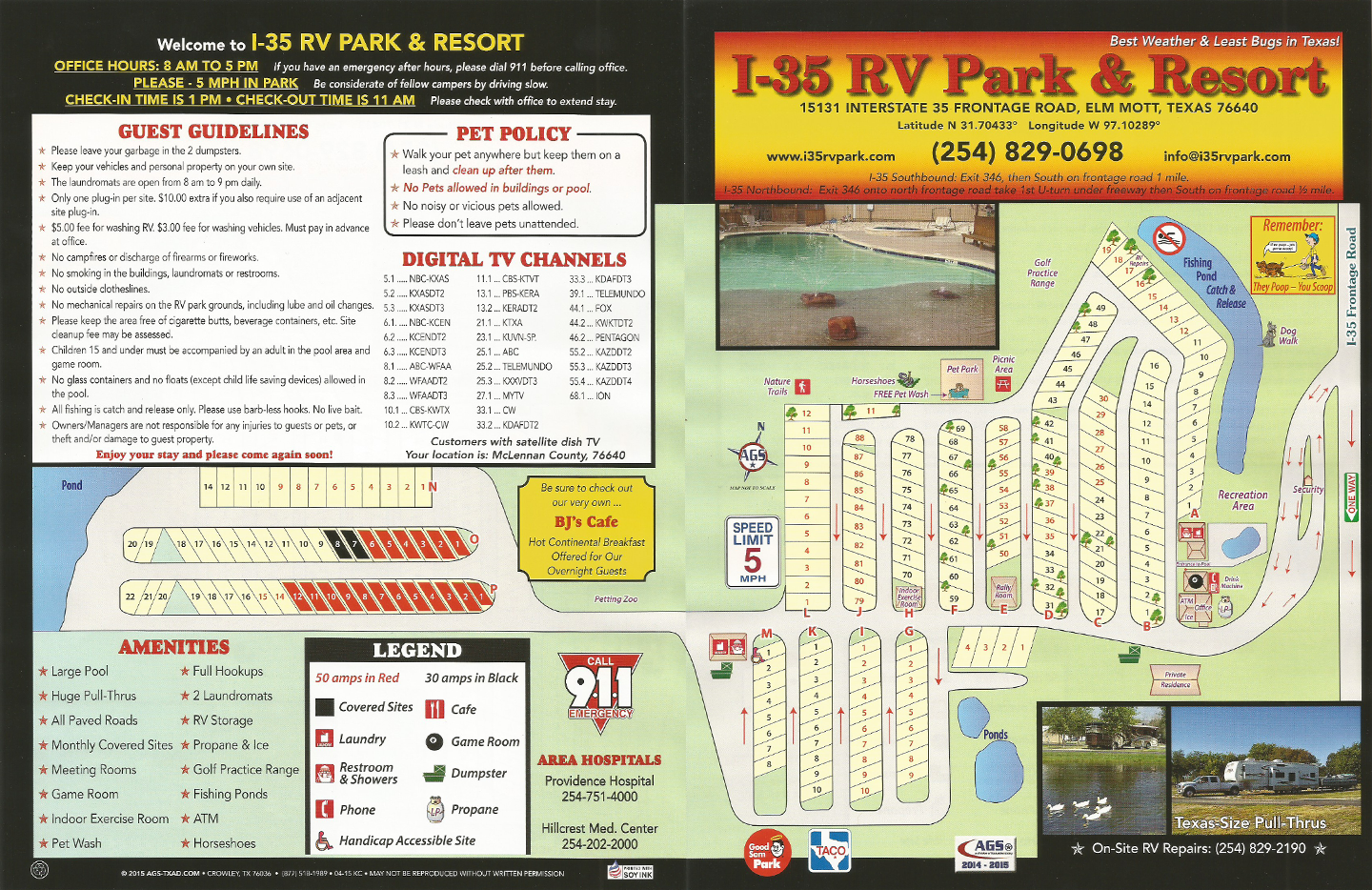 Map Of Texas I 35.Park Map I 35 Rv Park